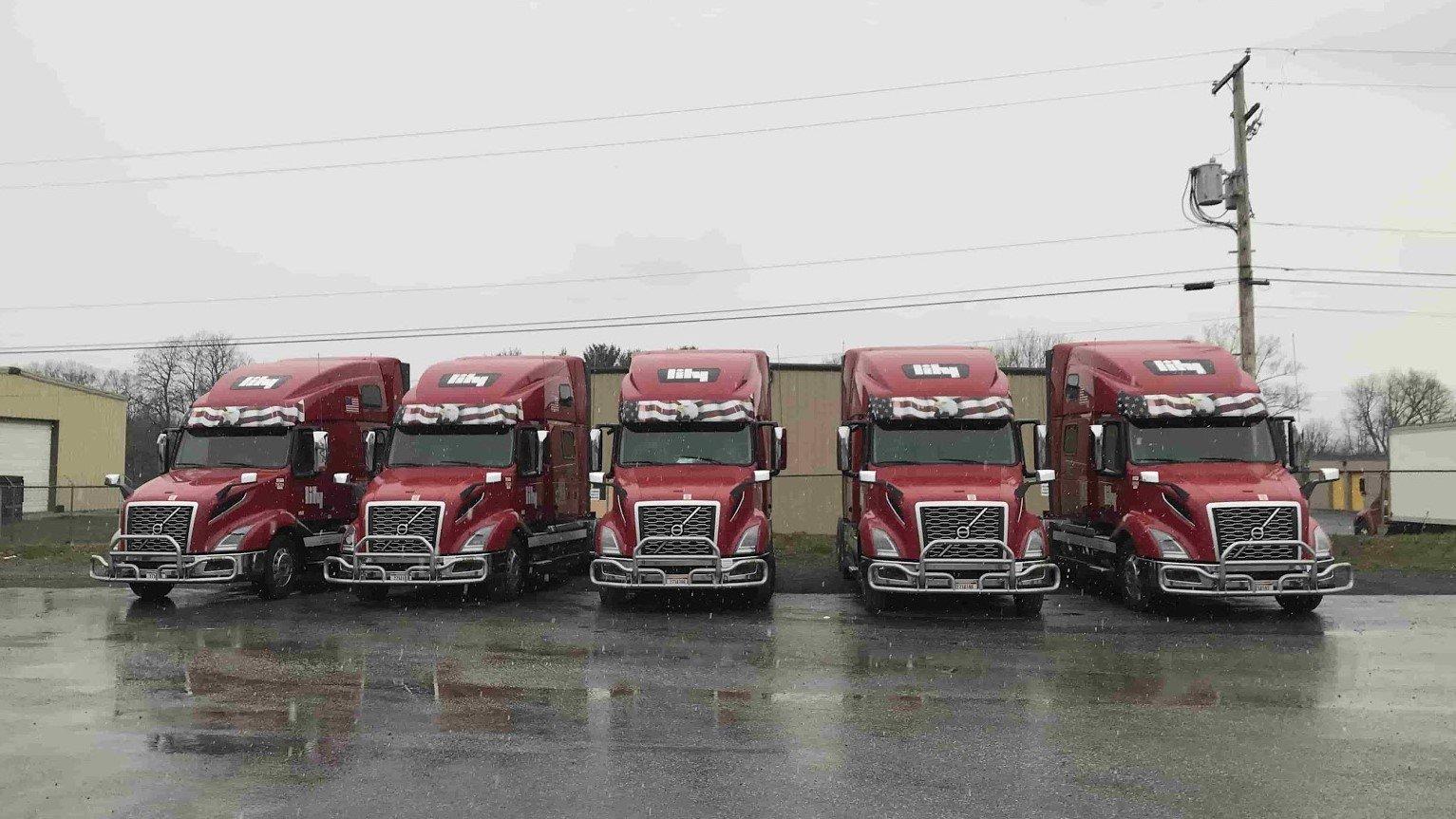 Lily Transportation trucks