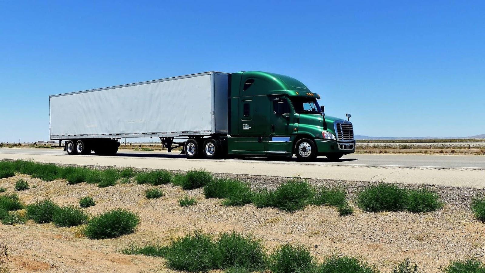 semi-truck on road