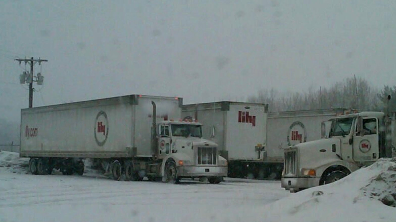 winter truck driving
