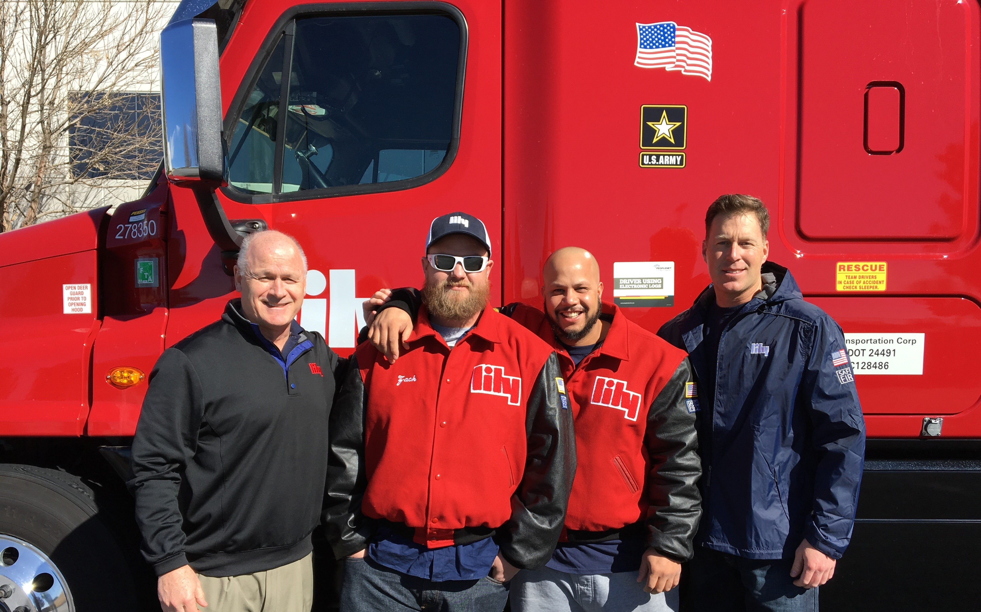OTR Team standing in front of truck