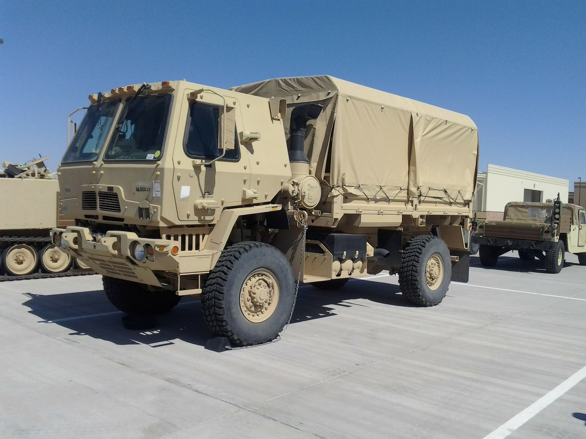 lmtv military truck parked on base